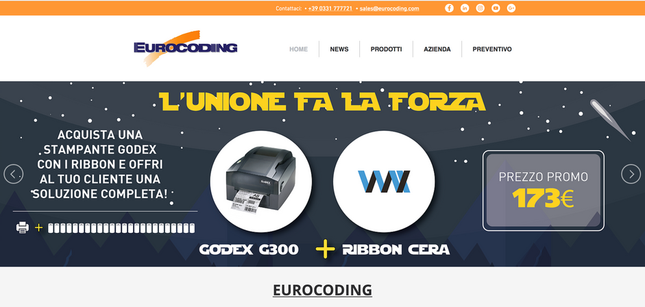 Template pagina Home Eurocoding.com