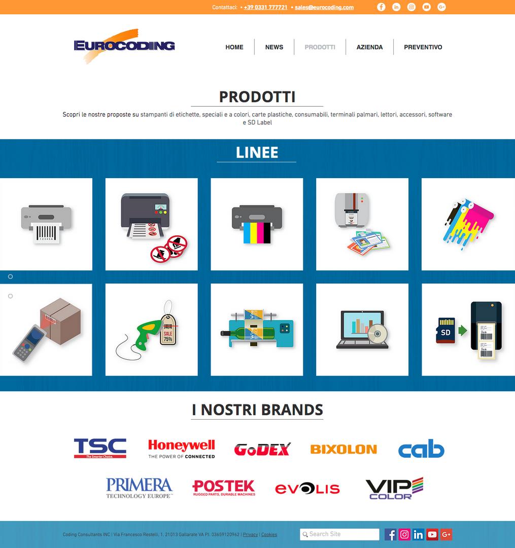 Template pagina Prodotti Eurocoding.com