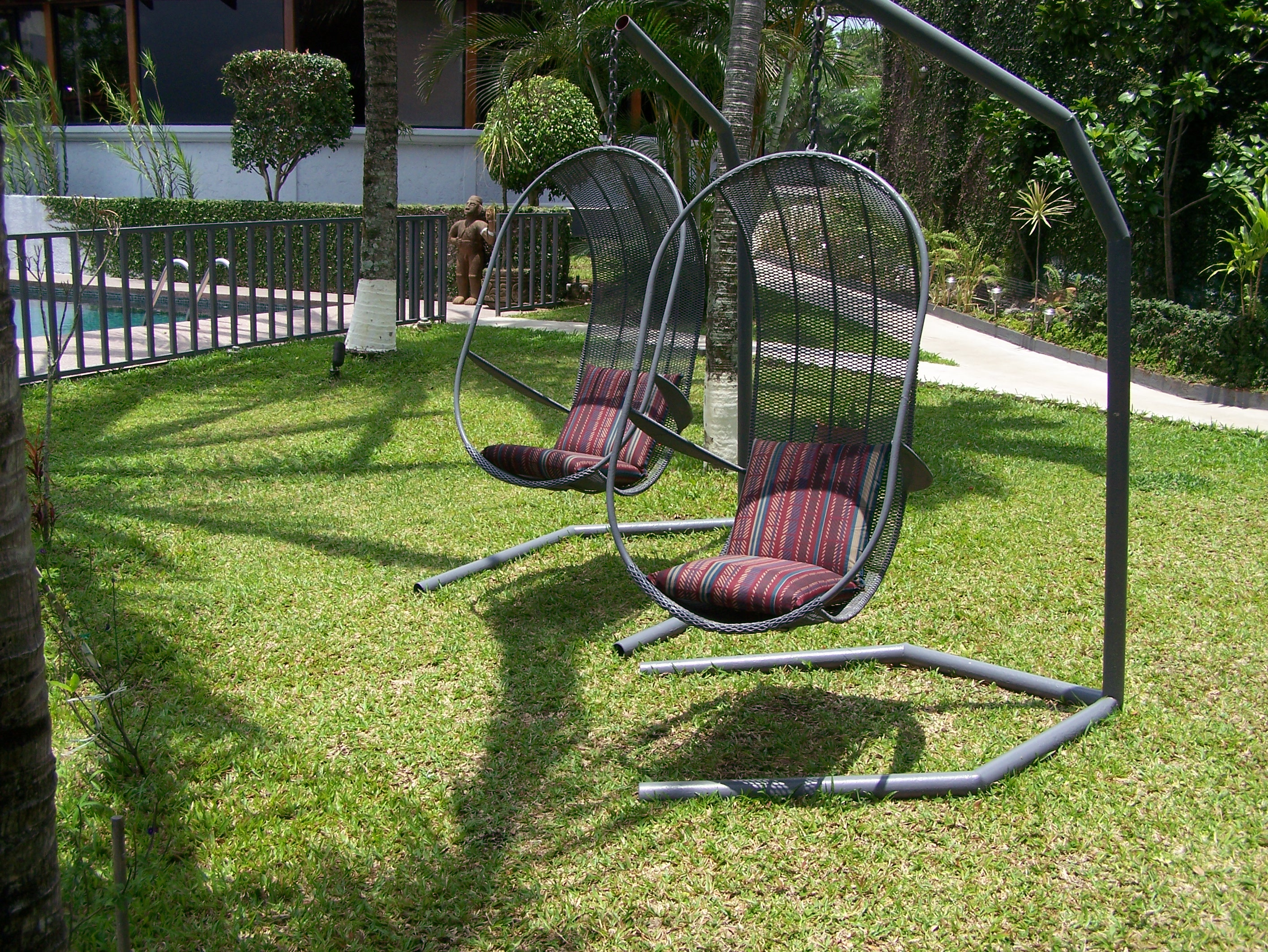 Hanging chairs view 1