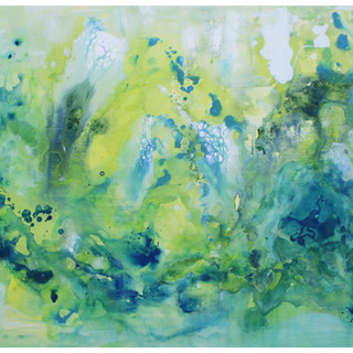 Aqua 2017 Acrylic and Resin on Canvas 140x76 cm