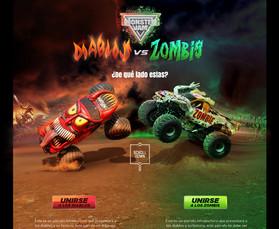 Diablos vs Zombis Landing Page