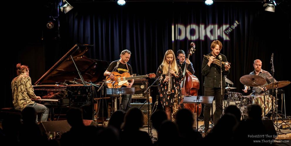 Cecilie Grundt Quintet + Nils-Olav Johansen  Live at Dokkhuset 29.03.19  Photo: Thor Egil Leirtrø
