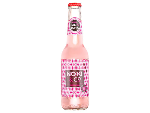 Noki & Co. Pink Alcohol Free Gin & Tonic Flavoured Drink 0%
