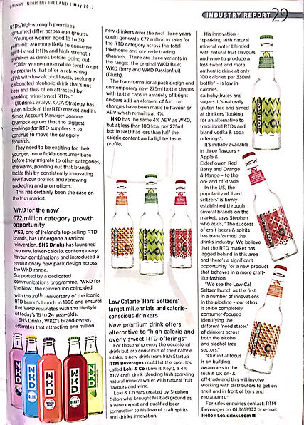 Second scanned page of Drinks Industry Ireland's two-page article about hard seltzers.