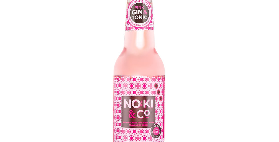 Noki & Co. Pink Alcohol Free Gin & Tonic Flavoured Drink 0% ABV