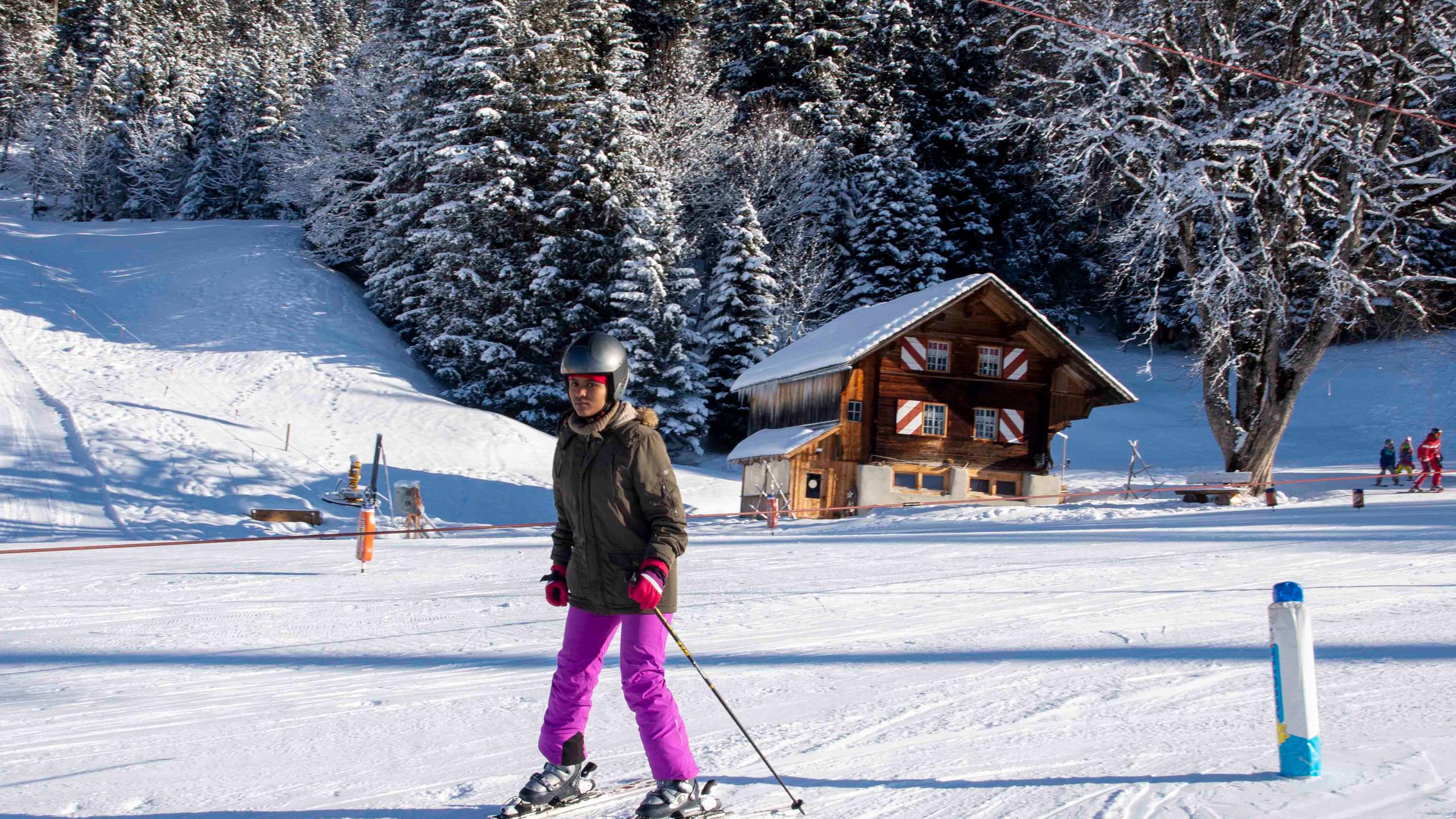 Skifahren Einsteiger