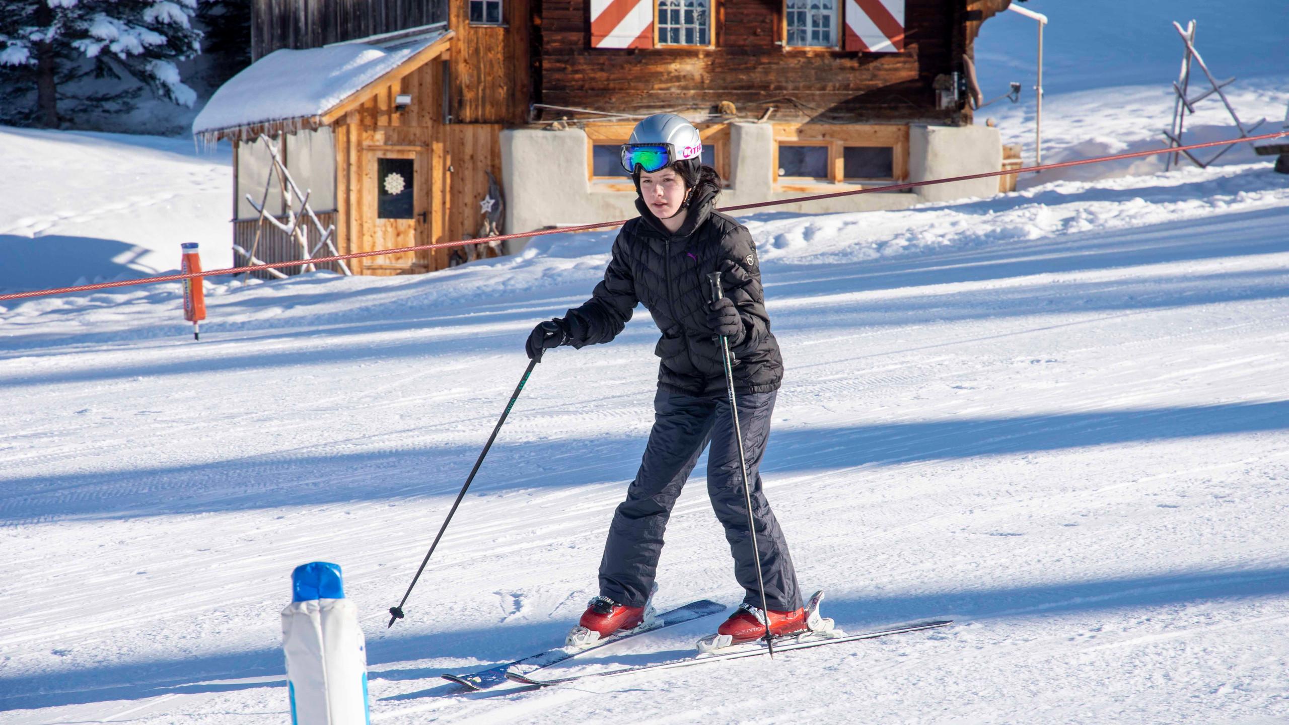 Skifahren Einsteiger. 2jpg