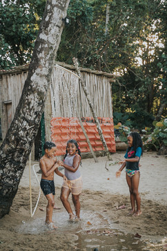 """Local Kids, playing at """"El Valle Beach"""""""