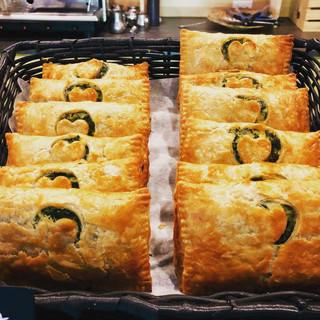 Spinach and feta pastry pockets