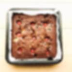 Chocolate brownies with raspberry jam, p