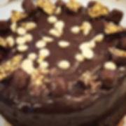 Jacob's Chocolate Brownie Birthday  Cake