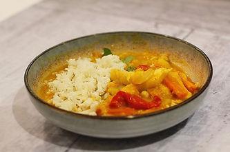 Parsnip spiced lentil curry with caulifl