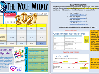 The Wolf Weekly - Week of January 4th, 2021