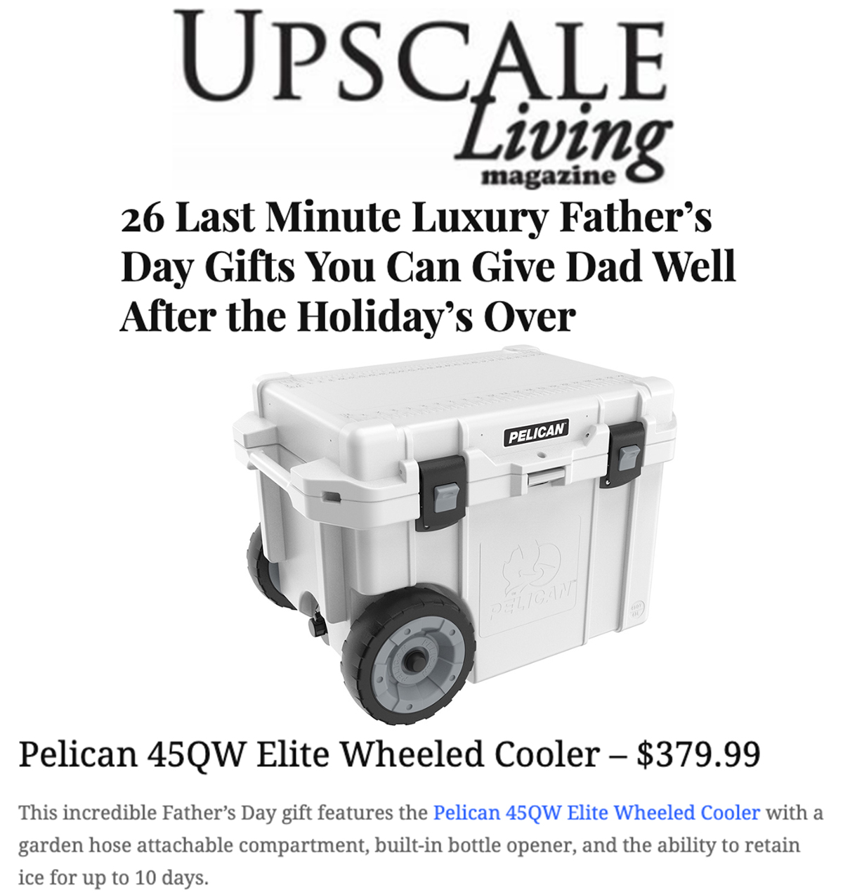 Pelican Elite on Upscale Living 0619