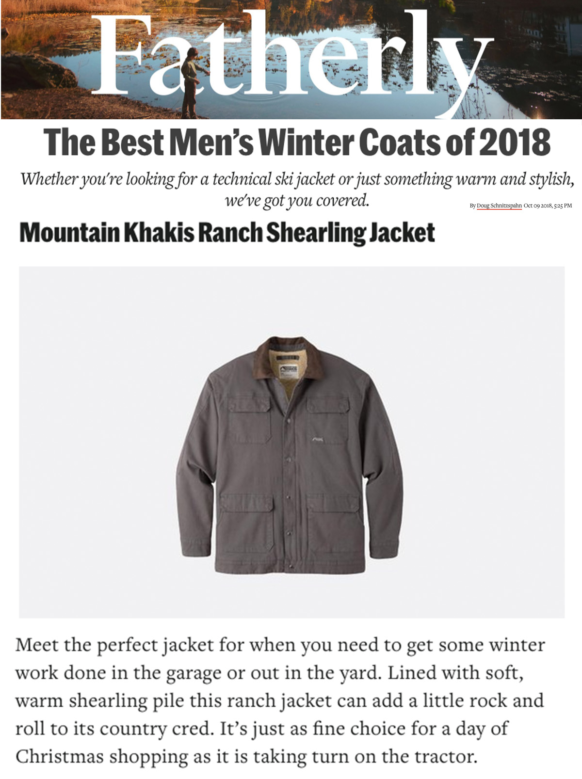 MK ranch shearling on Fatherly 0918