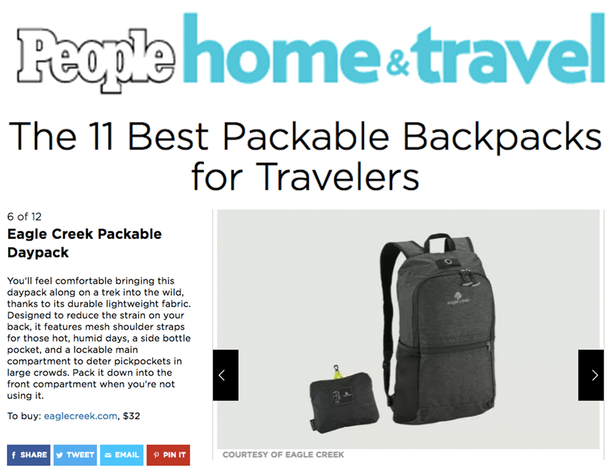 EC Packable Daypack on People