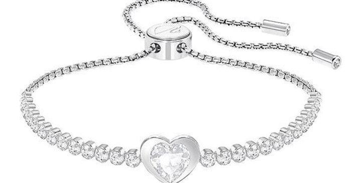 Swarovski armbånd Subtle Heart, hvitt
