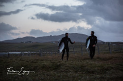 Surfers: Olivier, Fred. Scotland