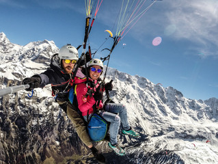Verbier Paragliding in Lauterbrunnen valley for a few days