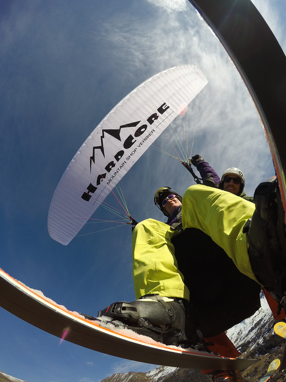 Verbier paragliding tandem flight yesterday.