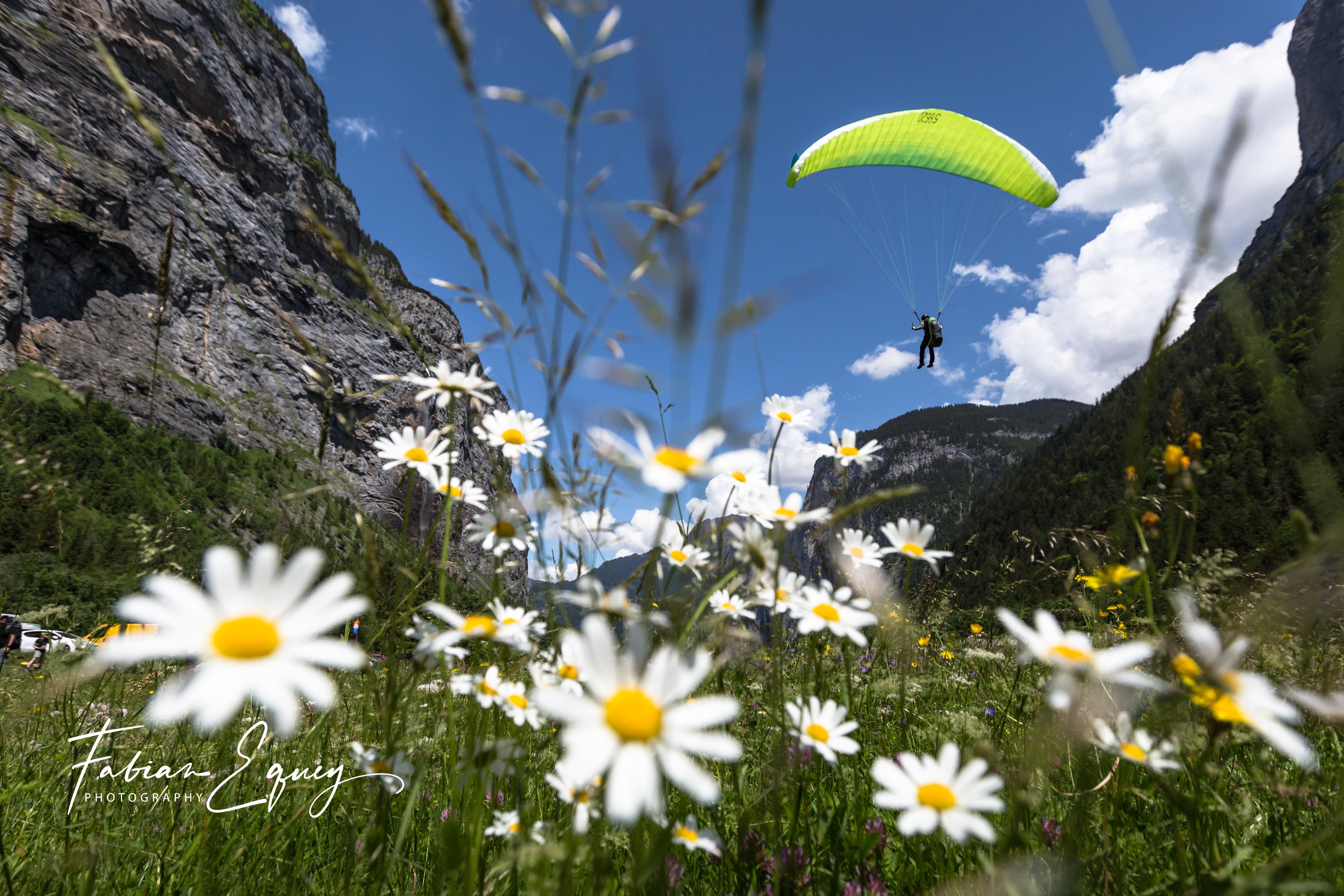 Paragliding, Stechelberg.