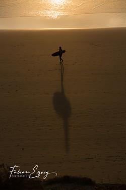 Surfer shadow