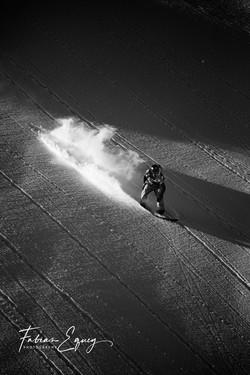 Landing, unknown rider