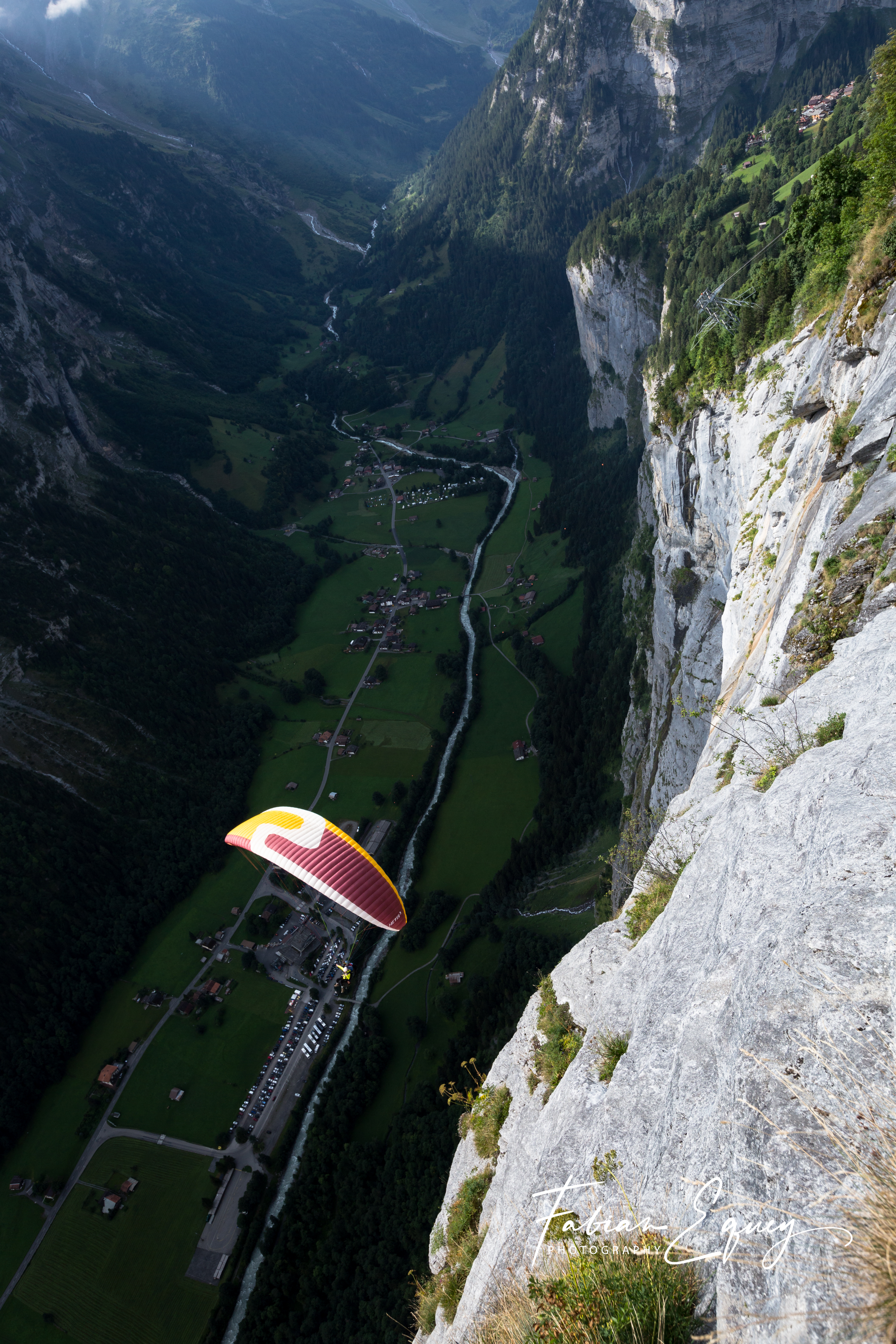Paragliding over Stechelberg