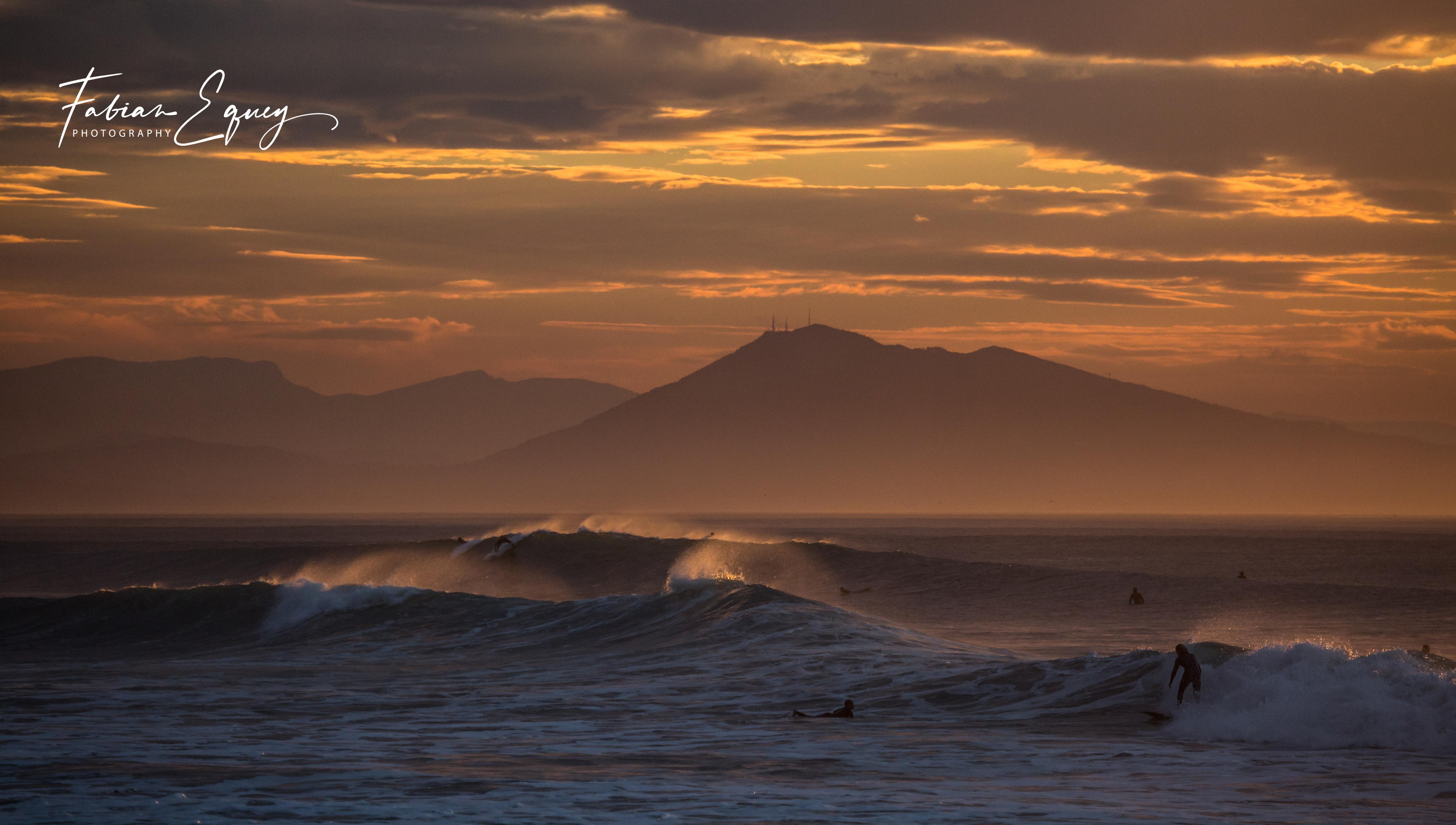 Surfing. Biarritz, France