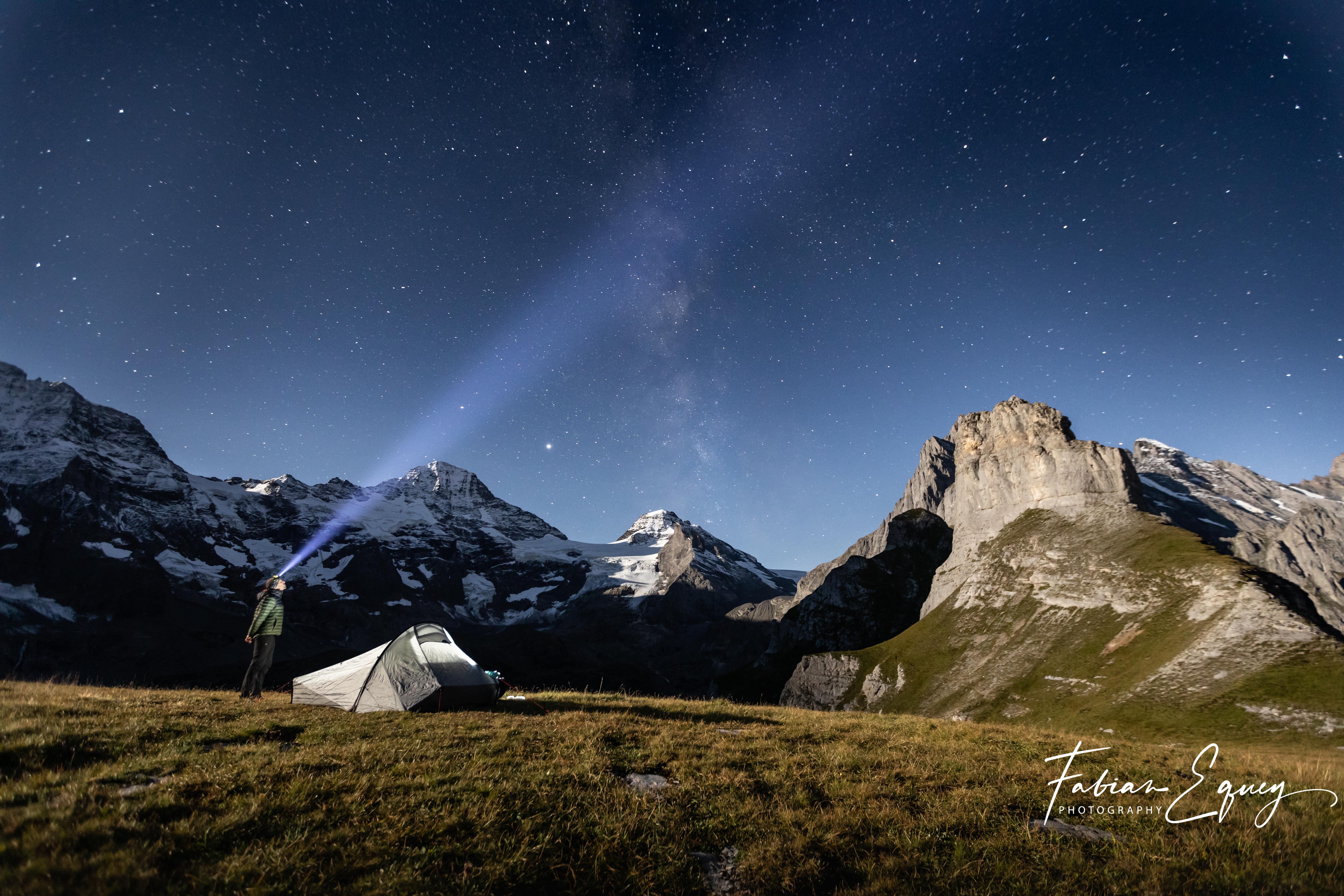 Stars sighting, Jungfrau region.