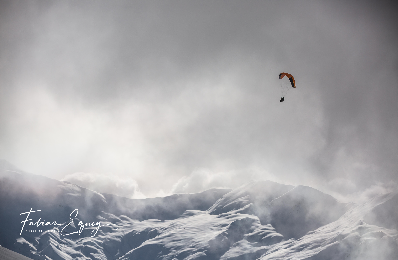 Paragliding, Verbier Switzerland.