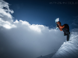 Anthony Duchateau mastering at Verbier snowpark