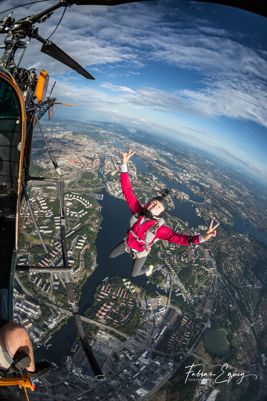Skydiver: Jenny. Sweden