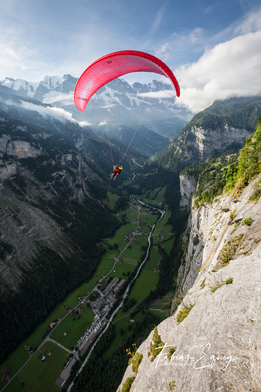 Tandem paragliding, Switzerland