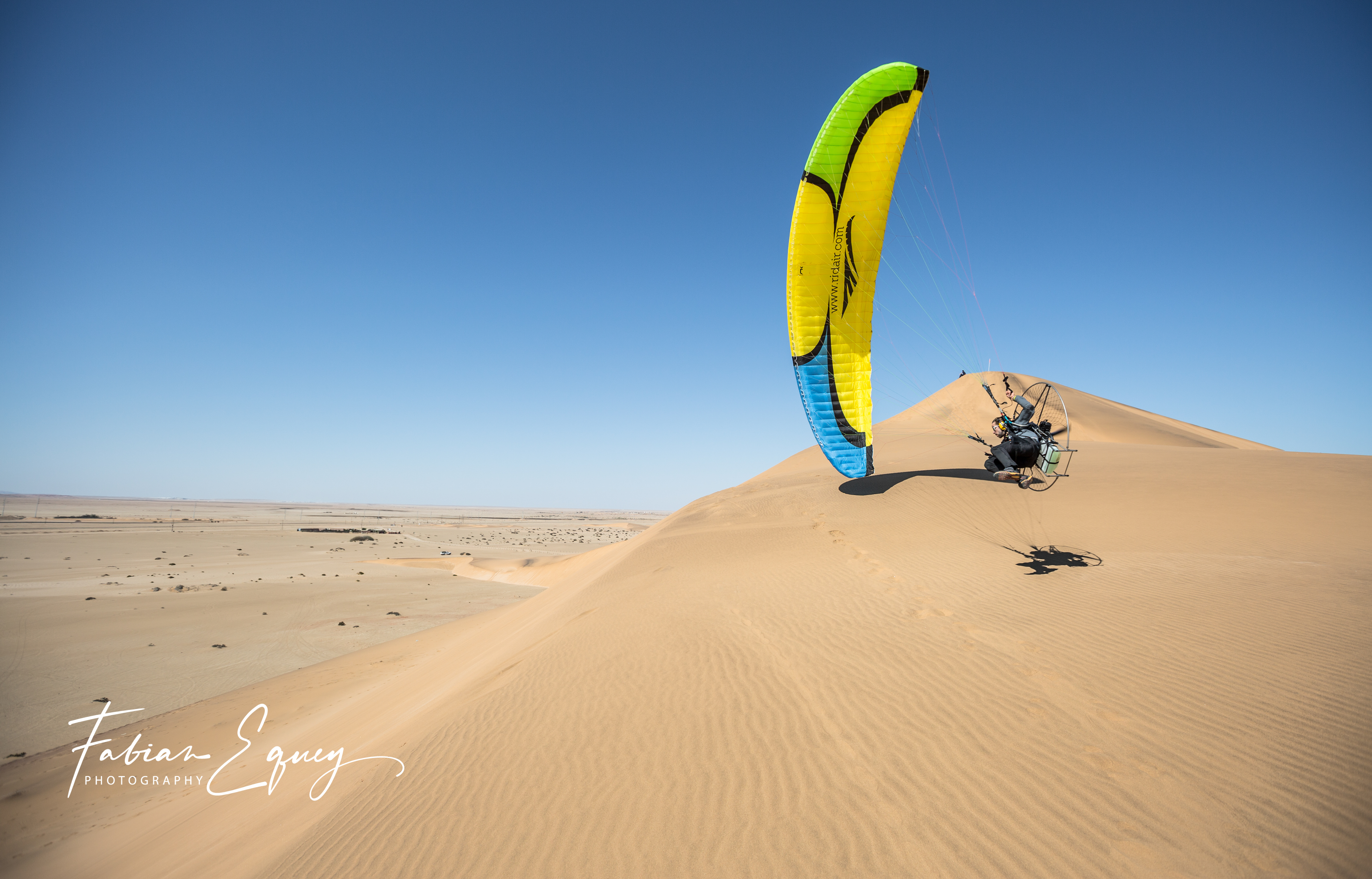 Paramotor with Cyrille Marck,Namibia