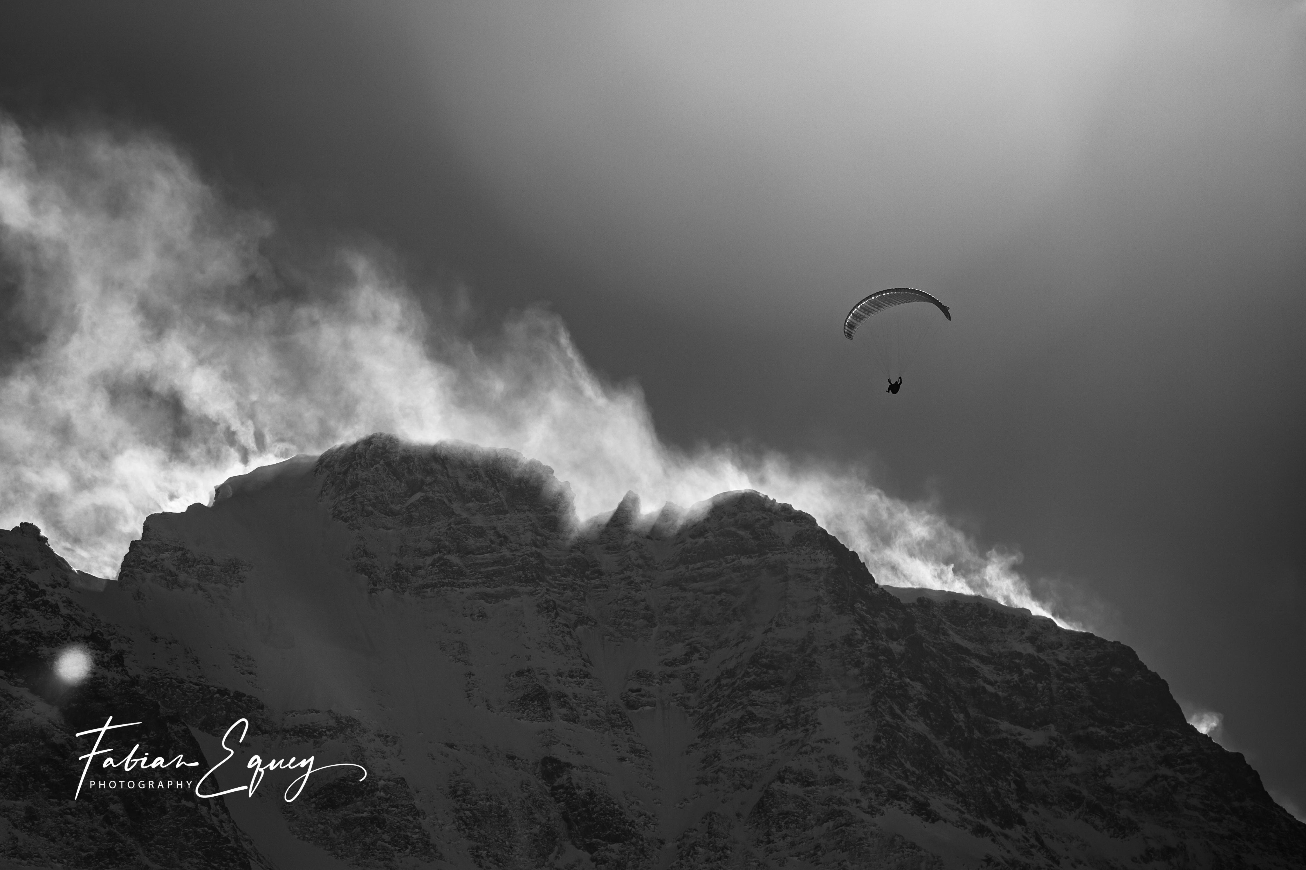 Paragliding. Jungfrau region