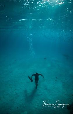 Freediver: Bastien. Dahab, Egypt.