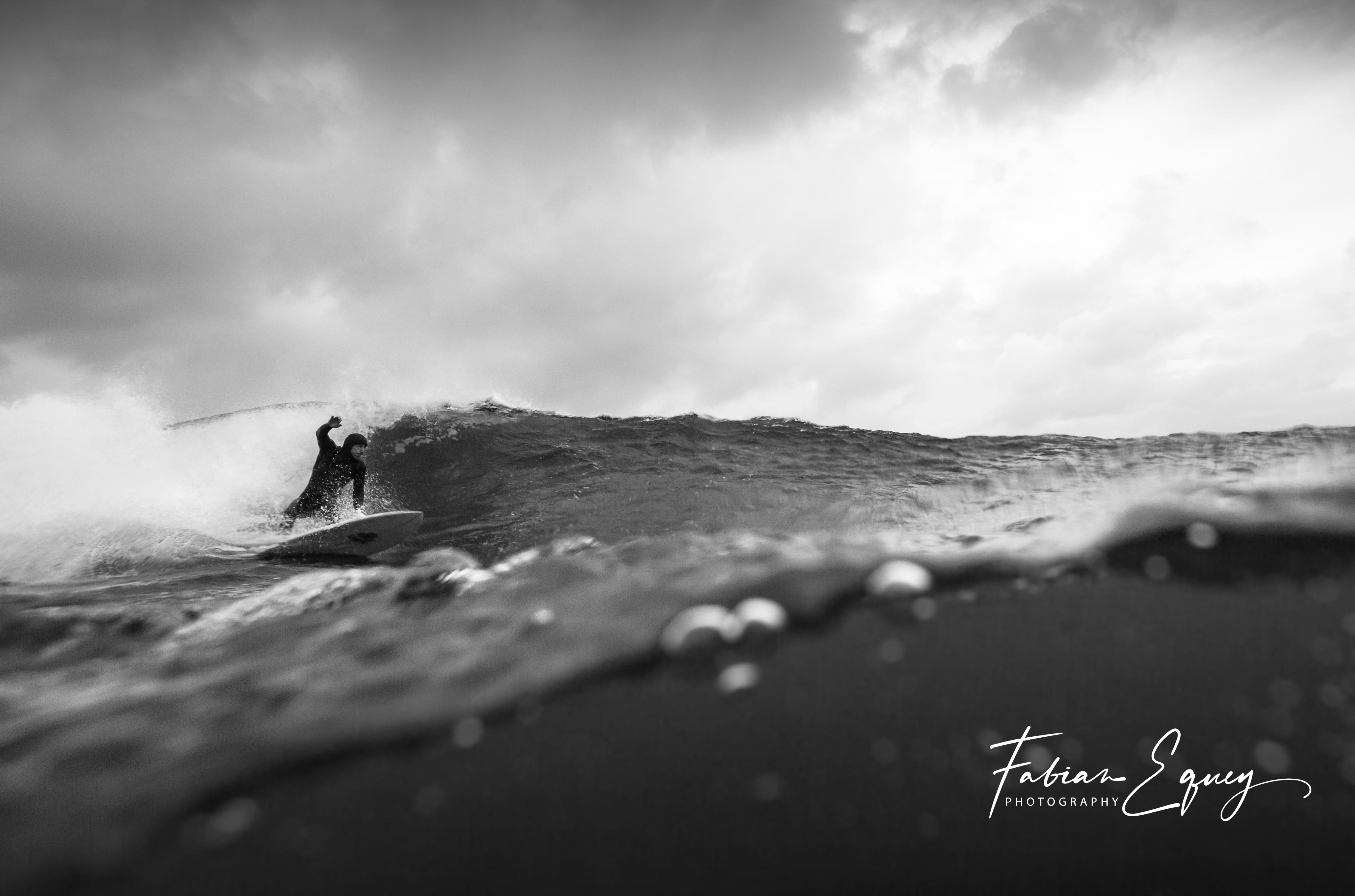 Unknown surfer. Scotland