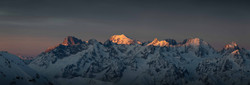 """View of the Mont Blanc from """"Les Gentianes"""" in Verbier."""