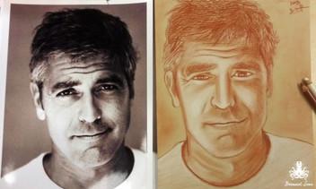 George Clooney Drawing - Bernard Sour