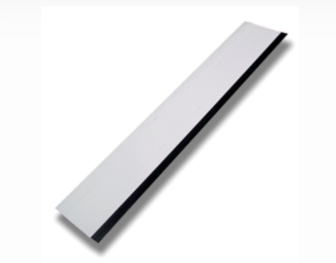 "WHITE 12"" SQUEEGEE WITH BLACK RUBBER EDGE"