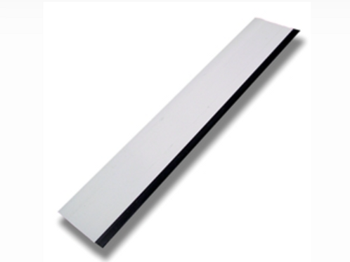 """White 12"""" Squeegee With Black Rubber Edge"""