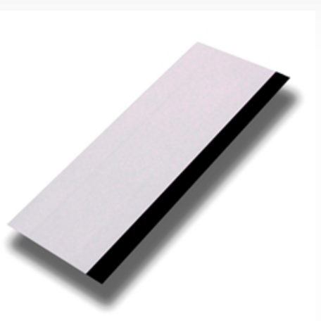 """White 6"""" Squeegee With Black Rubber Edge"""