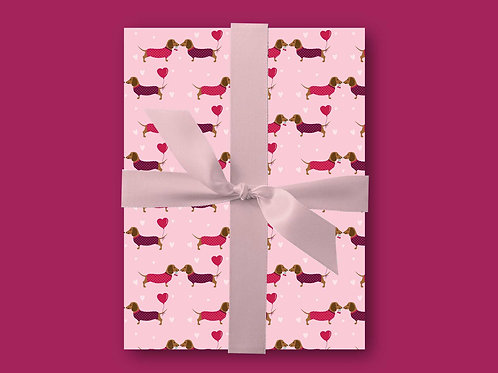 Sausage Dog Wrapping Paper, Dachshund Gift Wrap