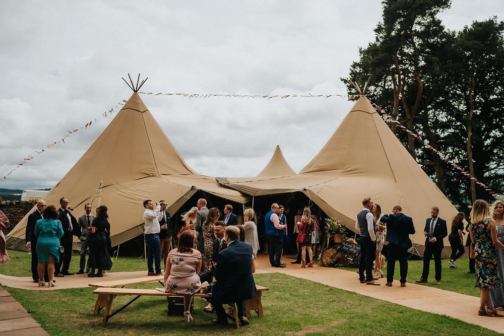 Tipi wedding Lake District UK