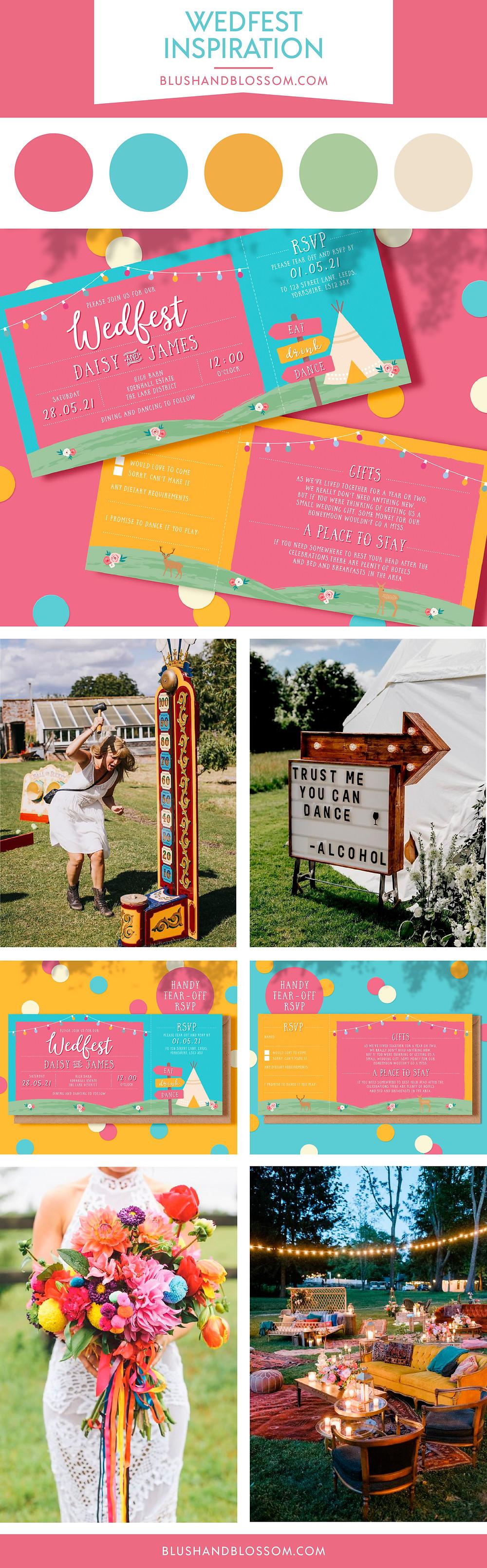 Wedfest festival wedding inspiration and fun ideas