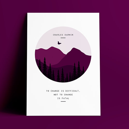 Charles Darwin | Change | A4 Art Print
