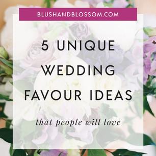 5 Unique Wedding Favour Ideas