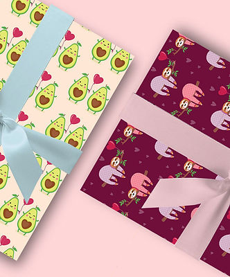 Gift Wrap | Avocados | Sloths