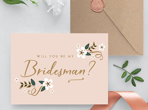 Will you be my bridesman card